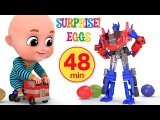 Surprise Eggs Transformers Robot Truck Toy for Kids Surprise Egg Videos from jugnu Kids