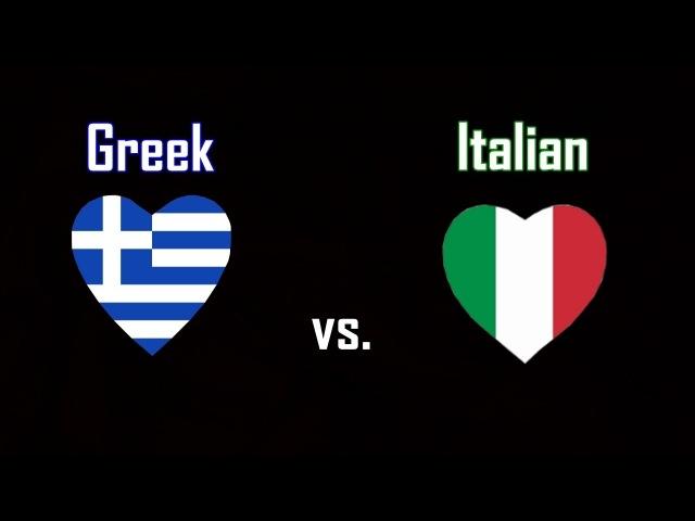 Non/Disney Female Voices Comparison : Greek vs Italian