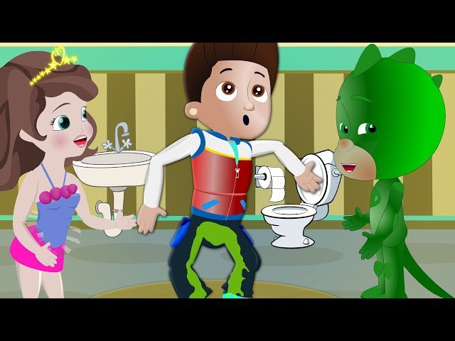 💩Boy was obsequious 💩 FUN prank PJ masks Paw Patrol and My little pony cartoon for kids Ryder Geko