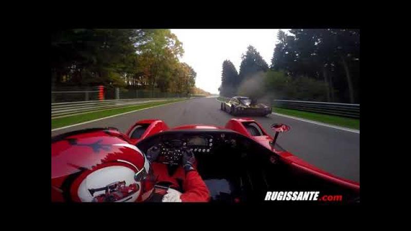 Radical SR3 SL pushed to crash at 220 km/h