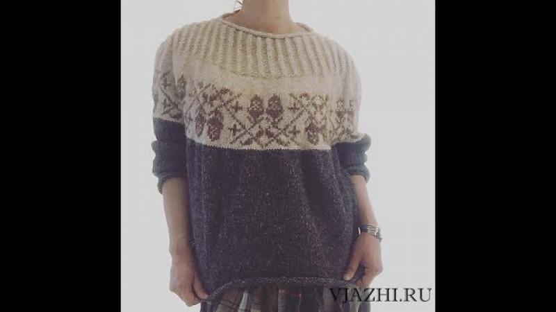 Свитер с желудями. Мой Acorn by Junko Okamoto. Galinca Knit