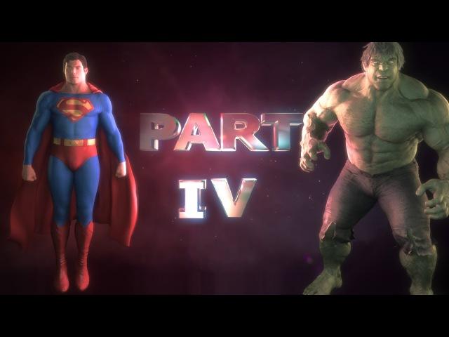 Superman vs Hulk The Fight Part 4