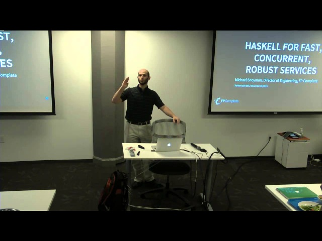 Haskell for fast concurrent robust services