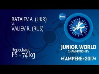 Repechage FS - 74 kg: R. VALIEV (RUS) df. A. BATAIEV (UKR) by VPO1, 9-3