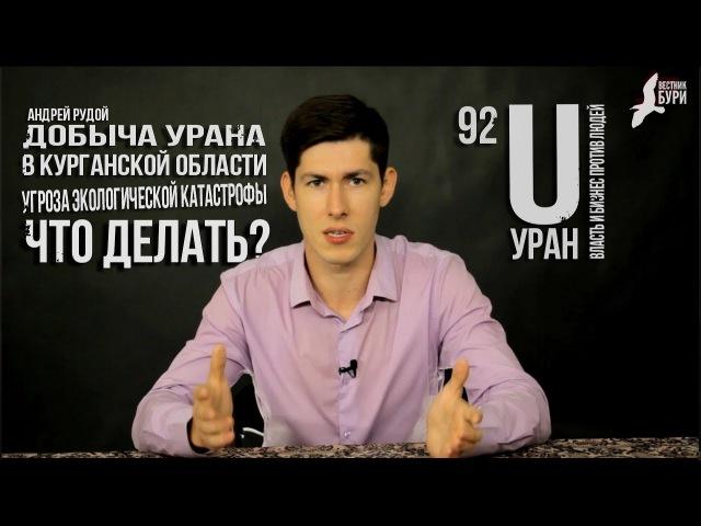 Добыча урана в Курганской области - угроза экологической катастрофы. Что делать? Андрей Рудой.