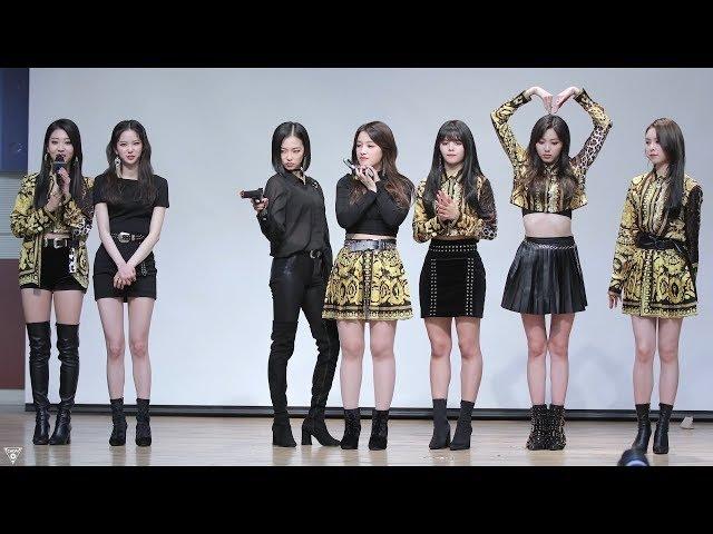 [4K] 180225 CLC 직캠 (Crystal Clear) - 팬사인회 마무리타임(퇴장) @미니앨범 팬사인회(대치2문화센53