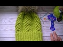Вязание шапки узором коса колосок