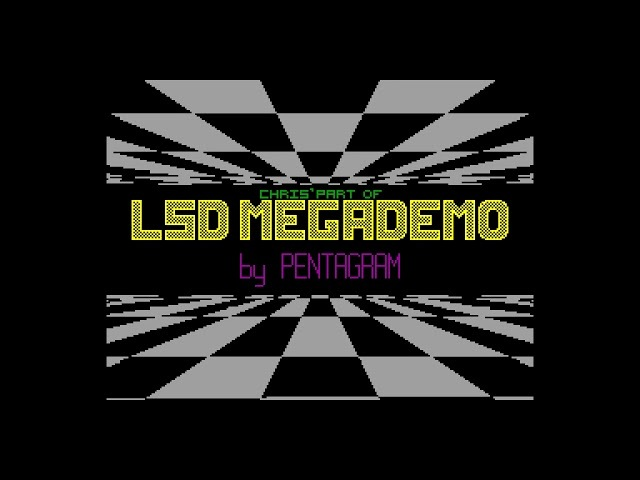 LSD Megademo Pentagram zx spectrum AY Music Demo