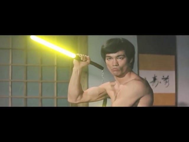 Bruce Lee Lightsabers Scene Recreation (Duel Of Fates edit)
