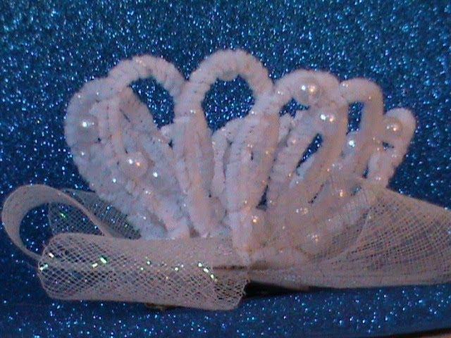 DIY МК Как сделать корону для принцесс из синельной проволоки