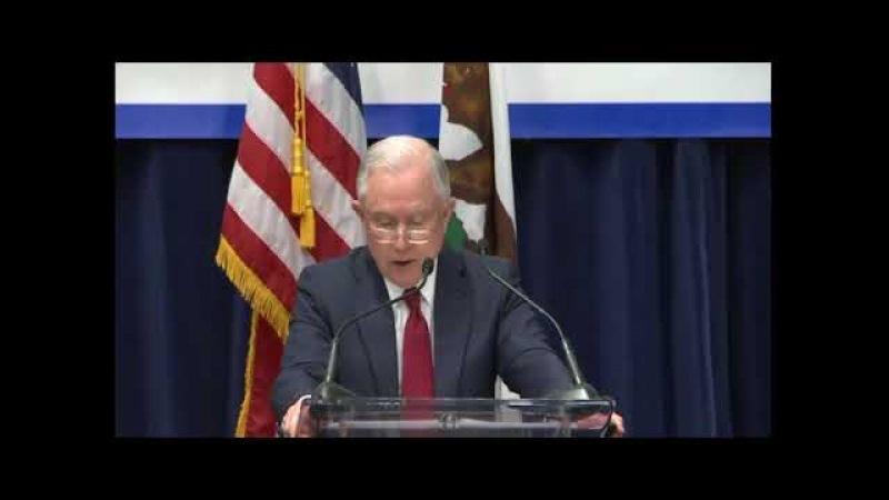 Jeff Sessions Announces Lawsuit Against California Over Sanctuary City Laws 3/7/18