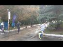 Финиш чемпиона России в беге на 100 км Василия Ларкина