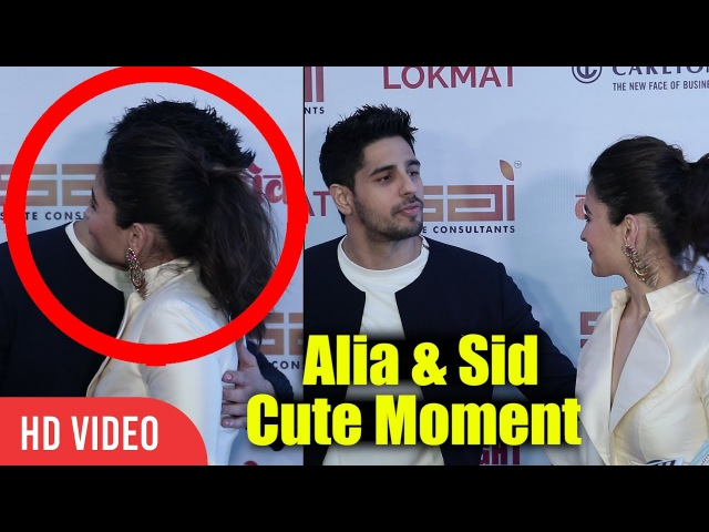 Alia And Sid Cute Moment | Alia Bhatt And Siddharth Malhotra Together At Lokmat Awards Show 2017