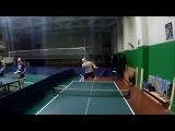 Table tennis \ training / first-person shooting \ action camera GoPro HERO5 Black