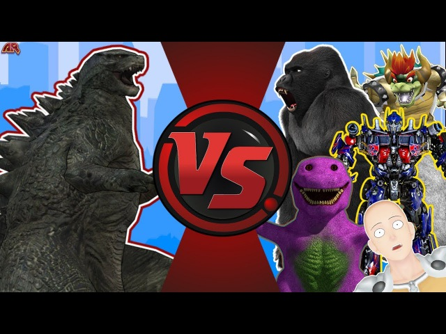 Godzilla vs The World! (Godzilla vs Optimus Prime, King Kong, Barney, More) Godzilla Animation