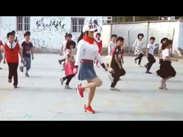 Cô giáo xinh đẹp nhảy shuffle dance cực hay cùng học trò | HAYPHET.NET