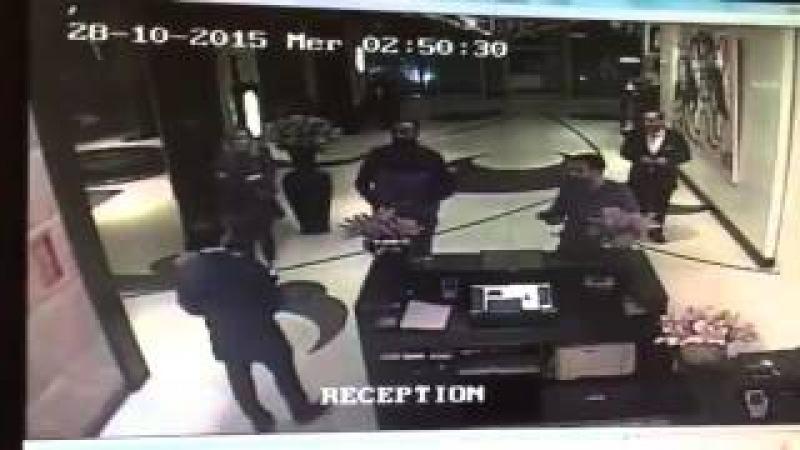 Kickboxer Badr Hari attacking Hotel clerk