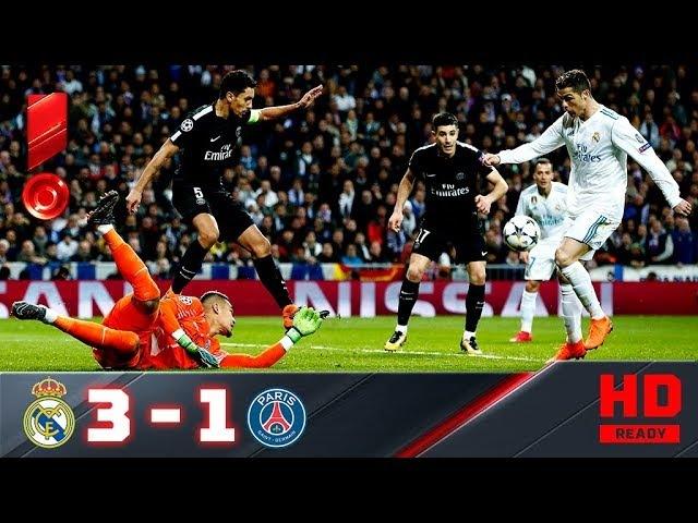 14 02 2018г Реал ПСЖ 3 1 Обзор первого матча 1 8 Лиги чемпионов смотреть онлайн без регистрации