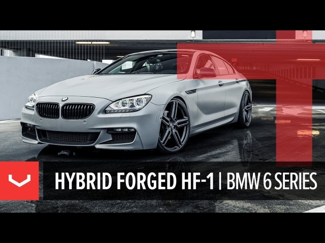 Vossen Hybrid Forged HF 1 Wheel BMW 6 Series Tinted Matte Gunmetal