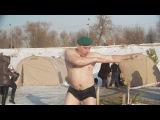 19 января 2018г. Омск. Купание в проруби на Крещение.