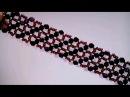 Браслет из бисера и биконусов. Обзор. DIY. Beaded bracelet