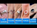 The Queen  Kate Middleton Meghan Markle Princess Eugenie  – Royal Engagement Ring