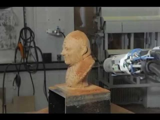 Milling of a wooden bust