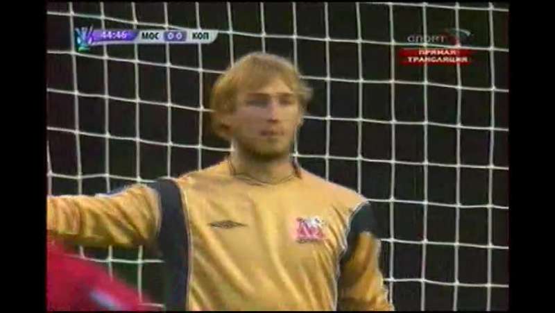 Кубок УЕФА 2008/09. ФК Москва (Россия) - Копенгаген (Дания) - 1:2 (0:1)