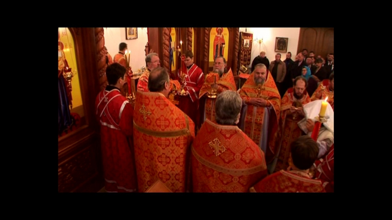 Освящение Свято Варваринского храма 2008г Телеканал Глас ч 1