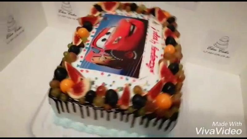 Тортик с машинкой