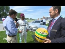 1 BEST OFF TRACK MOMENT An emotional Lewis Hamilton is given one of Ayrton Senna's helmets after equalling his 65 poles in Ca