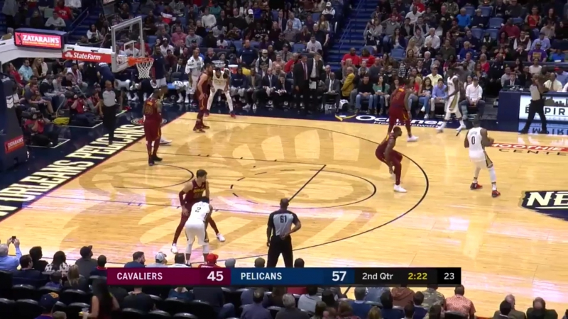 New Orleans Pelicans Cleveland Cavaliers 28 10 17