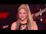 Shakira and Black M  -  Comme moi - Live in The Voice France