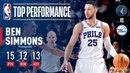 Ben Simmons Notches 10th Rookie Season Triple Double! #NBANews #NBA #76ers #BenSimmons