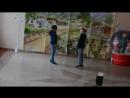 Предновогоднее выступление близнецов в Сухумской 14 школе.