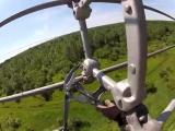 Опасная работа электрика, 765 000 Вольт ЛЭП. Установка вкладышей с вертолета