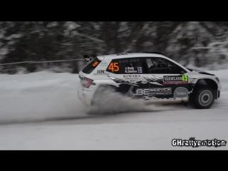 WRC Rally Sweden 2018 Лучшие моменты