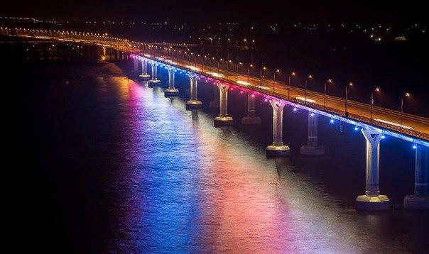 19 ноября в Волгограде включат подсветку моста через Волгу    В этот д