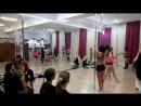Новогодний огонек. показательные тренировки и танцы Exotic pole dance