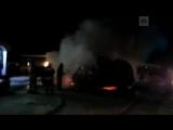 Фейерверк на трассе у Дивногорска