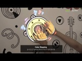 Interactive media wall (conductive ink, projection mapping) - Music Playing Wall