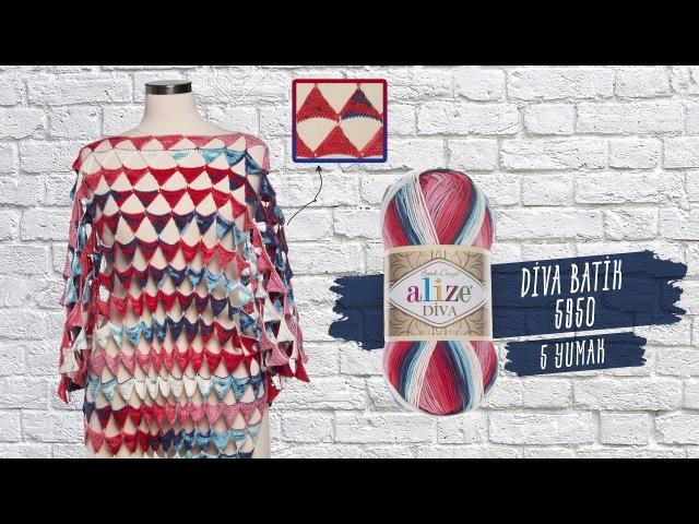 Alize Diva ile Yazlık Tunik Elbise Yapımı-Making Summer Tunic Dress with Alize Diva