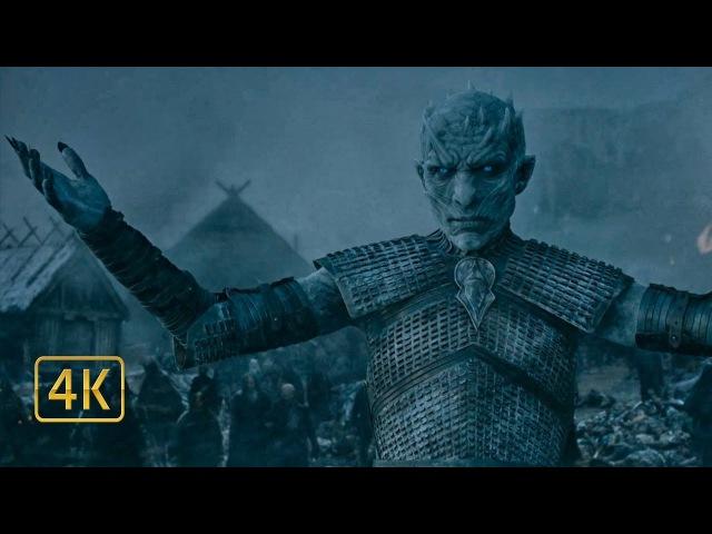 Король Ночи воскрешает мёртвых одичалых. Игра престолов 4K ULTRA HD