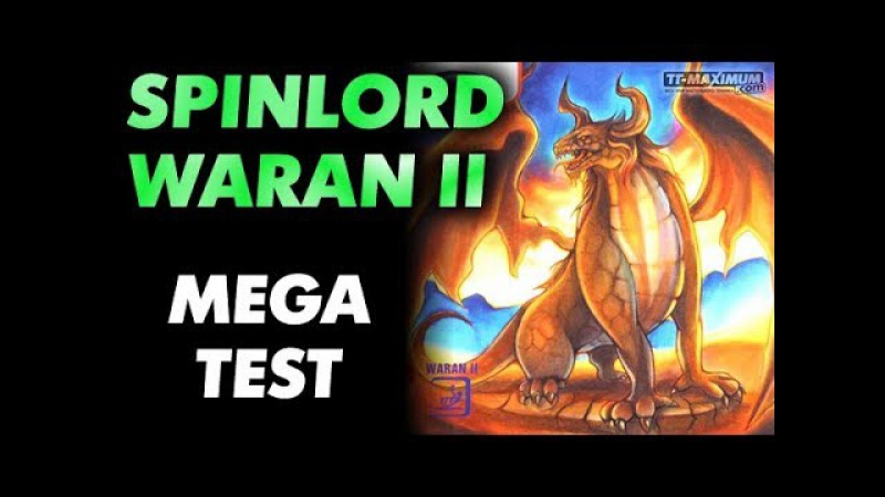 Review SPINLORD Waran II short pips Обзор коротких шипов