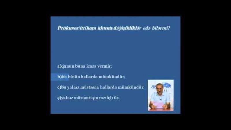 ABA CEELI --Vəkilliyə namizədlər üçün hazırlıq kursları - Məşğələ 8(1)