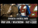 Used Look Weathering schnell einfach synthetische und natürliche Stoffe ► Kostüm Tutorial