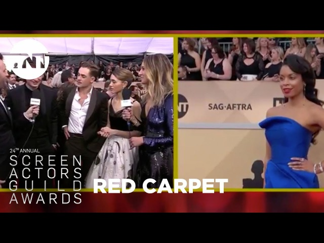 Joe Keery, Natalia Dyer, Dacre Montgomery: Red Carpet Interview | 24th Annual SAG Awards | TNT
