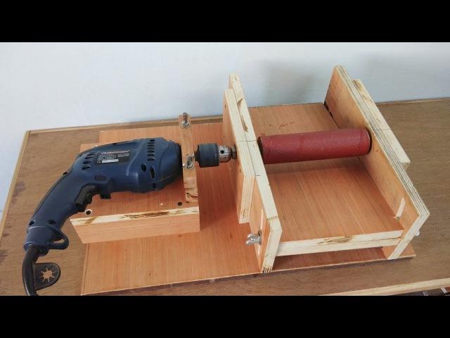 DIY Homemade 8 Drum Sander Thickness Sander Using A Drill Machine