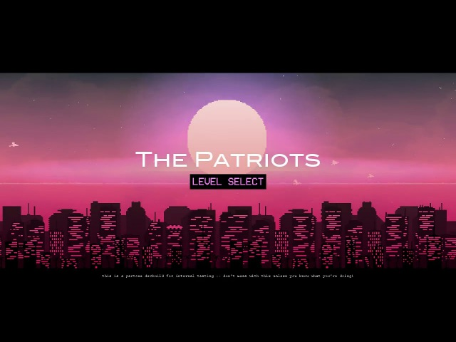 THE PATRIOTS • Unused Main Menu