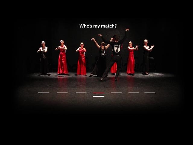BINARY search with FLAMENCO dance